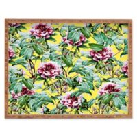 Deny Designs Yellow Flora by 83 Oranges Small Rectangular Serving Tray