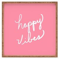 Deny Designs Happy Vibes Rose by Lisa Argyropoulos Small Square Serving Tray