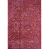 Rug America Beverly Abstract Loomed 2' x 3' Area Rug in Red