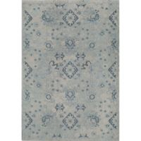 Rug America Beverly Abstract Loomed 2' x 3' Area Rug in Blue