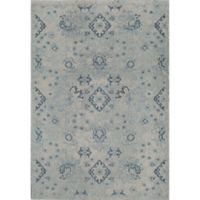 Rug America Beverly Abstract Loomed 4' x 5'7 Area Rug in Blue
