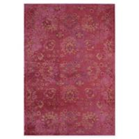 Rug America Beverly Abstract Loomed 5'3 x 7'6 Area Rug in Red