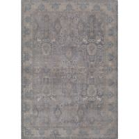 Rugs America Estelle Abstract Loomed 5'3 x 7'6 Area Rug in Grey/Ivory