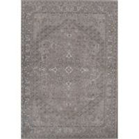Rugs America Estelle Loomed 2' x 3' Area Rug in Grey/Ivory