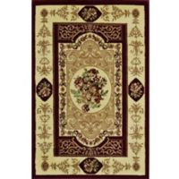 Rugs America New Vision Aubusson 2' x 2'11 Accent Rug in Cherry