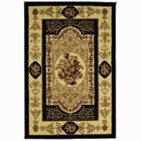 Rugs America New Vision Aubusson 2' x 2'11 Accent Rug in Black