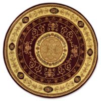 Rugs America New Vision Aubusson 5'3 Round Area Rug in Cherry