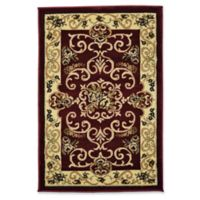 Rugs America New Vision Souvanerie 2' x 2'11 Accent Rug in Red