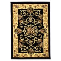 Rugs America New Vision Souvanerie 2' x 2'11 Accent Rug in Black