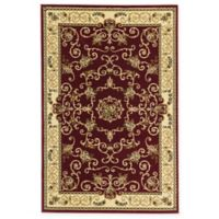 Rugs America New Vision Souvanerie 3'11 x 5'3 Area Rug in Red