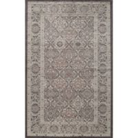 Rugs America Riviera Vintage Diamond 2'7 x 4'11 Accent Rug in Black