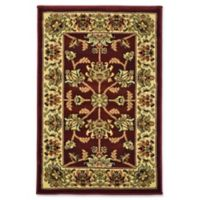 Rugs America New Vision Kashan Moss 2' x 2'11 Area Rug in Red