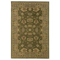 Rugs America New Vision Kashan Moss 3'11 x 5'3 Area Rug in Green