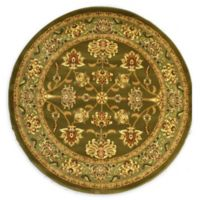 Rugs America New Vision Kashan Moss 5'2 Round Area Rug in Green