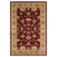 Rugs America New Vision Kashan Moss 5'3 x 7'10 Area Rug in Red
