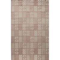 Rugs America Riviera Loomed 5' x 8' Area Rug in Rust Red