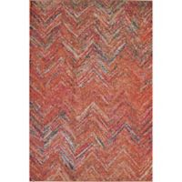 Rugs America Beverly Abstract Loomed 4' x 5'7 Area Rug in Rust