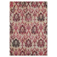 Rugs America Beverly Ikat Loomed 2'2 x 7'6 Accent Rug in Ivory/Fuchsia