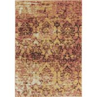 Rugs America Beverly Abstract Loomed 4' x 5'7 Accent Rug in Pink