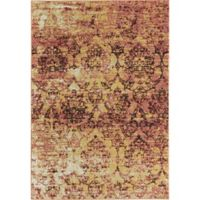 Rugs America Beverly Abstract Loomed 5'3 x 7'6 Accent Rug in Pink
