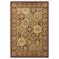 Rugs America New Vision Panel Berber 2' x 2'11 Accent Rug in Red