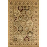 Rugs America New Vision Panel Berber 7'10 x 10'10 Area Rug in Pink
