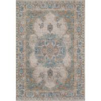 Rugs America Beverly Loomed 5'3 x 7'6 Accent Rug in Ivory/Blue