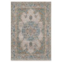 Rugs America Beverly Loomed 2'2 x 7'6 Accent Rug in Ivory/Blue