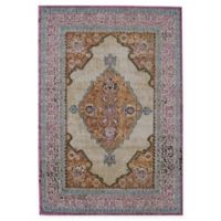 Rugs America Beverly Loomed 4' x 5'7 Accent Rug in Ivory/Rust