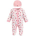 Luvable Friends® Preemie Sleep N Play Floral Footie and Cap Set