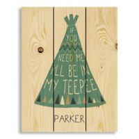 Designs Direct In My Teepee Pallet Wooden Wall Art