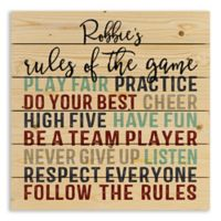 Designs Direct Rules of the Game Wooden Wall Art