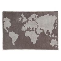 Lorena Canals World Map 4' x 6' Area Rug in Grey