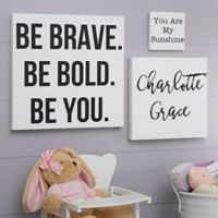 Write Your Own Kid's Expression 8-Inch Square Canvas Wall Art