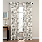 Cambree Ogee 84-Inch Grommet Window Curtain Panel Pair in Natural