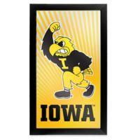 University of Iowa 26-Inch x 15-Inch Framed Logo Mirror in Orange
