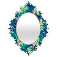 Deny Designs® Bel Lefosse Design 19-Inch x 14-Inch Multicolor Oval Jardim Baroque Mirror