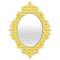 Deny Designs® Lisa Argyropoulos 19-Inch x 14-Inch Oval Electric Baroque Mirror in Zest