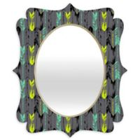 Deny Designs® Pattern State 29-Inch x 22-Inch Oval Arrow Line Quatrefoil Mirror in Spearmint