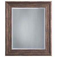 Yosemite Home Decor Mint 27-Inch x 23-Inch Square Montpelier Mirror in Espresso