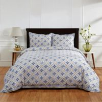 Amity Home Ike Twin Duvet Cover in Blue/Taupe