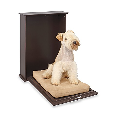 Homezone Murphy Pet Bed With Cushion In Espresso Bed