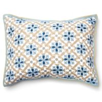 Amity Home Ike King Pillow Sham in Blue/Taupe