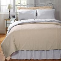 Amity Home Elizabeth Seersucker Twin Duvet Cover in Taupe/White