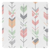 Sweet Jojo Designs Mod Arrow Fabric Memo Board in Coral/Mint