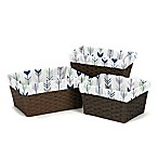 Sweet Jojo Designs Mod Arrow Basket Liners in Grey/Mint (Set of 3)