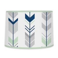 Sweet Jojo Designs Mod Arrow Lamp Shade in Grey/Mint