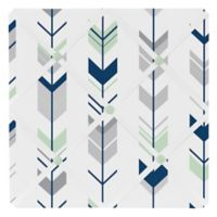 Sweet Jojo Designs Mod Arrow Fabric Memo Board in Grey/Mint