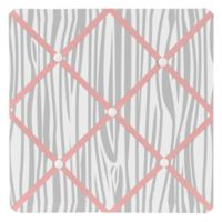 Sweet Jojo Designs Woodsy Fabric Memo Board in Coral/Grey