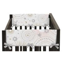 Sweet Jojo Designs Celestial Side Crib Rail Guard Covers in Pink/Gold (Set of 2)